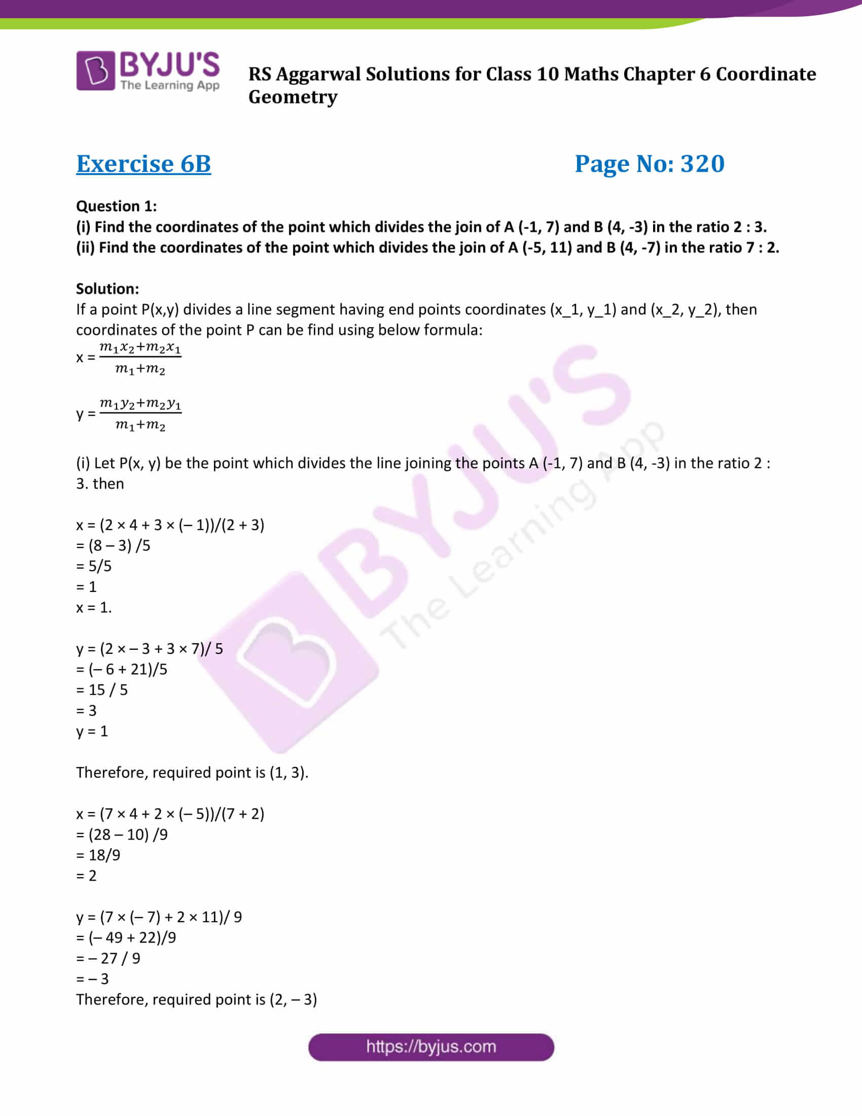 RS Aggarwal Sol class 10 Maths Chapter 6B