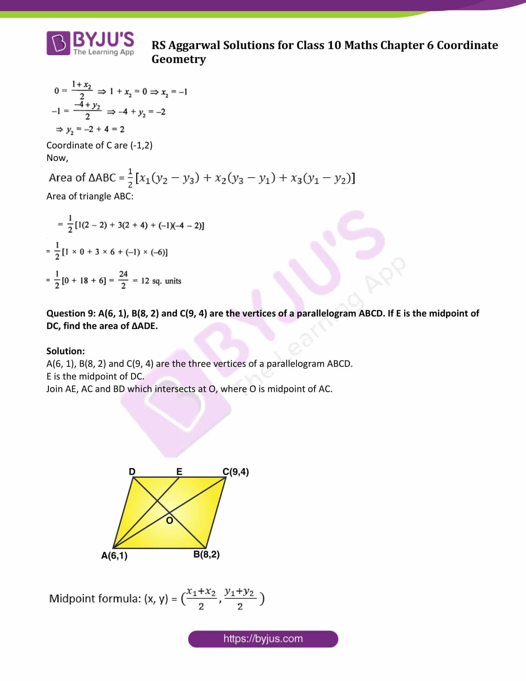 RS Aggarwal Sol class 10 Maths Chapter 6C