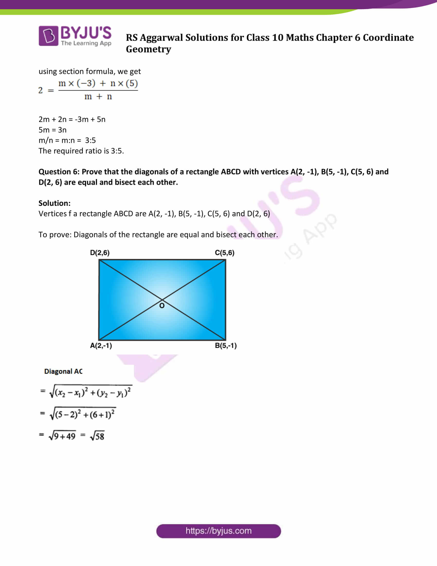 RS Aggarwal Sol class 10 Maths Chapter 6D