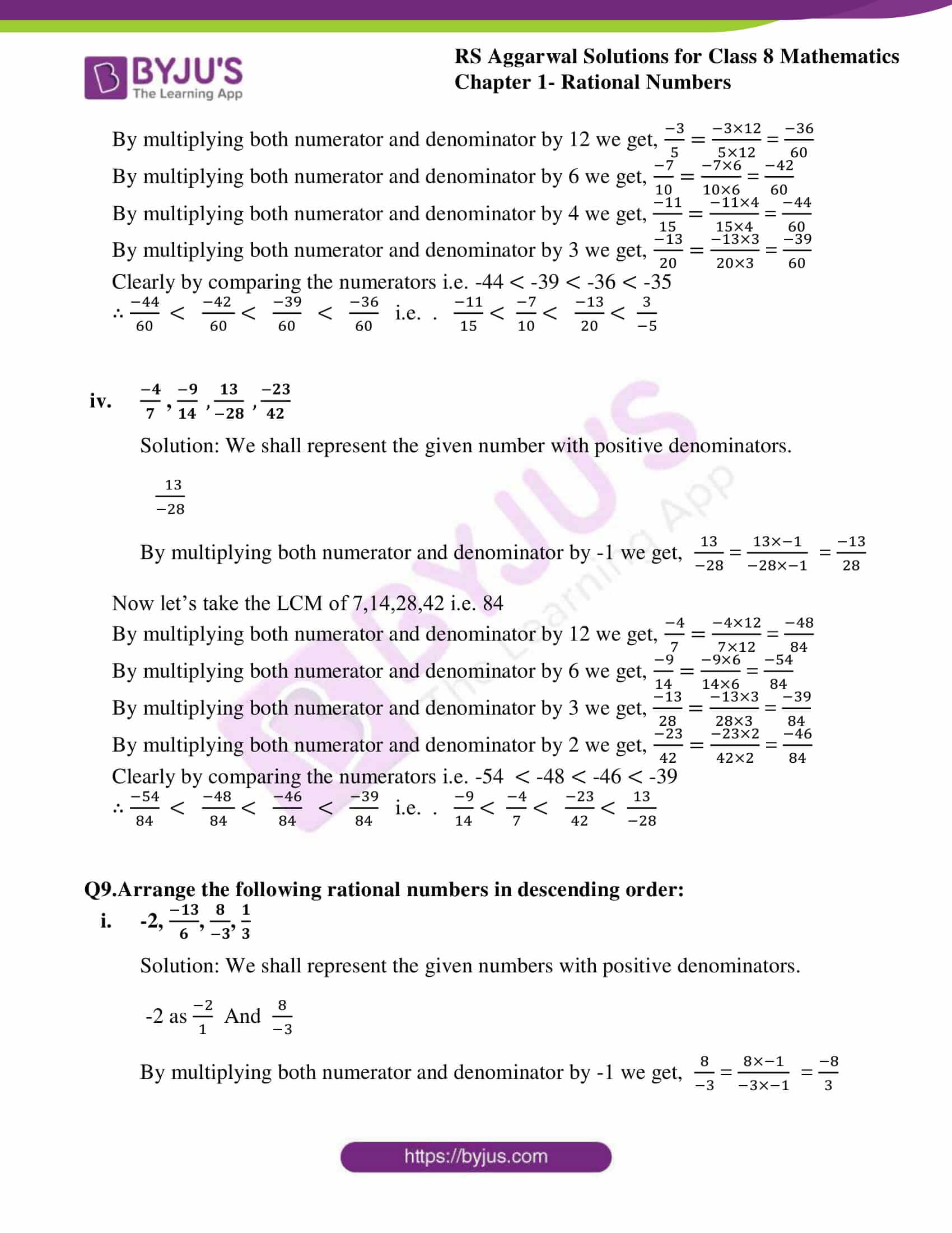 rs aggarwal solutions class 8 maths chapter 1a