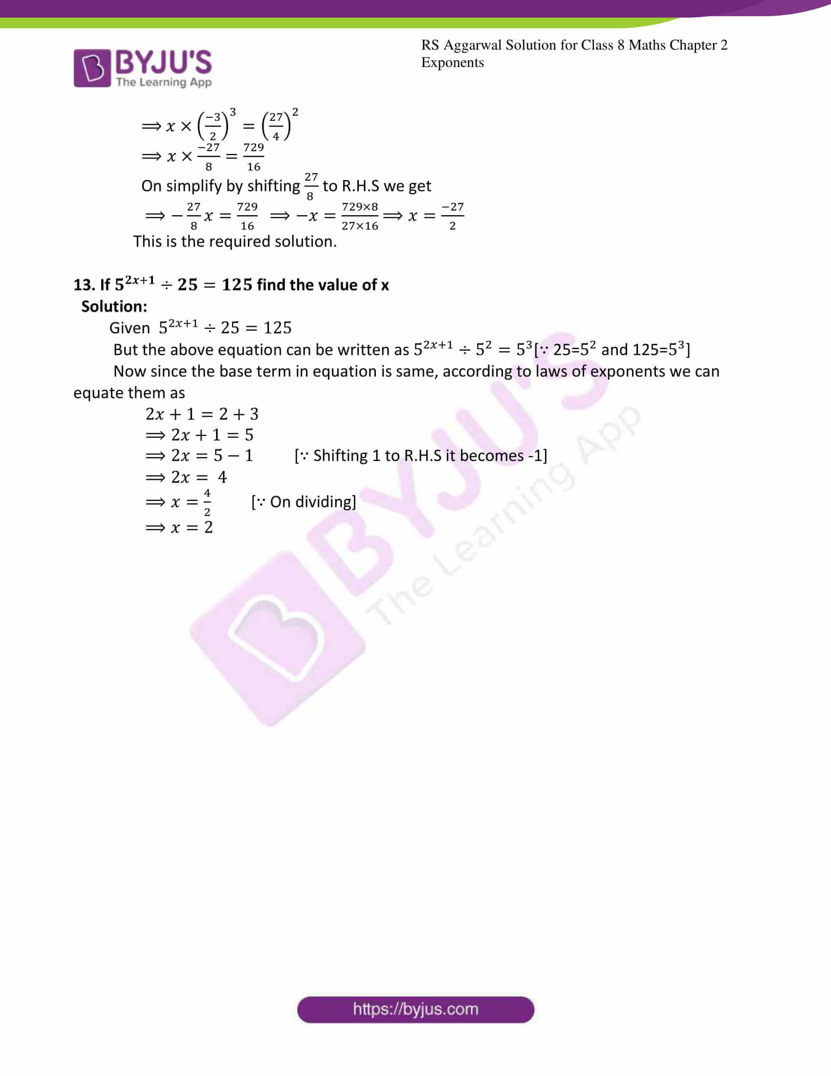 rs aggarwal solutions class 8 maths chapter 2a