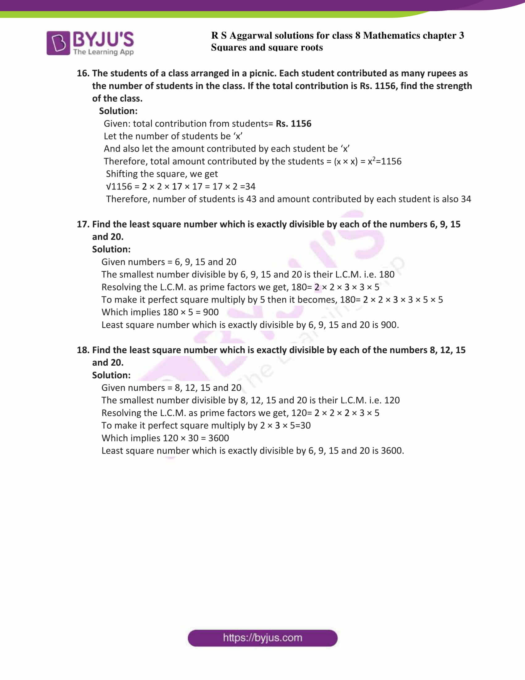 rs aggarwal solutions class 8 maths chapter 3d