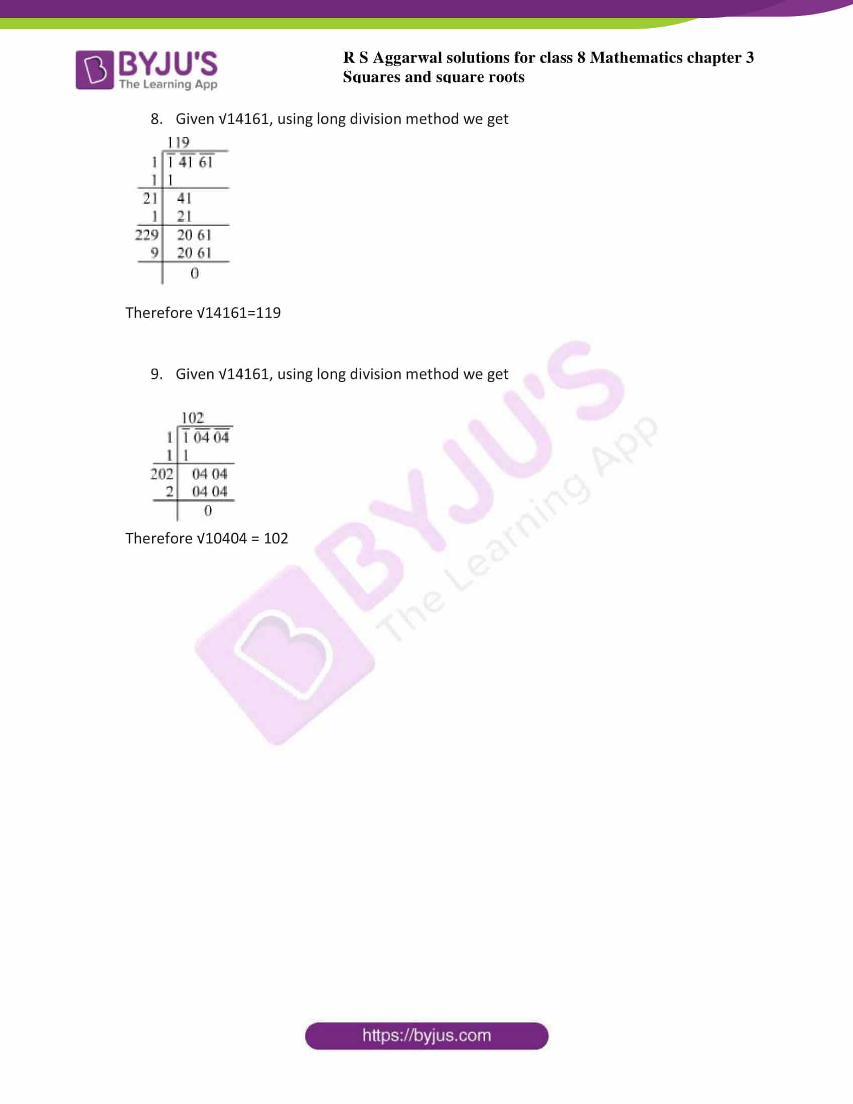 rs aggarwal solutions class 8 maths chapter 3e