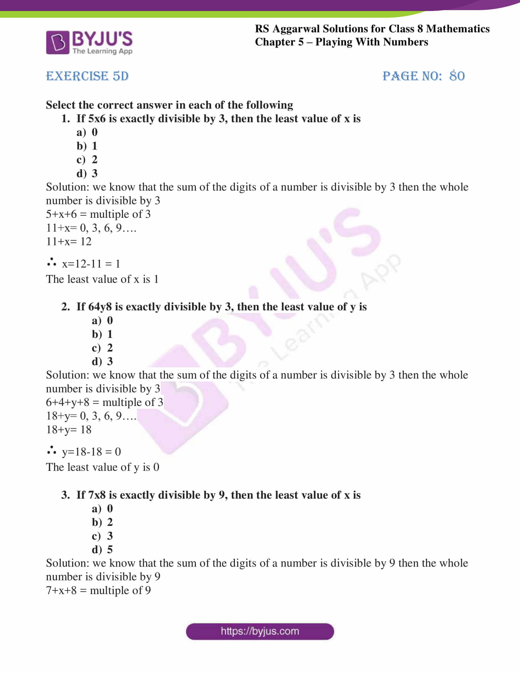 rs aggarwal solutions class 8 maths chapter 5d