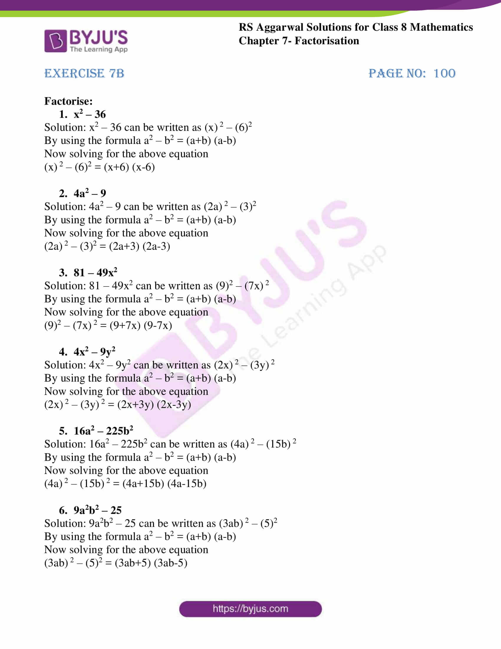 rs aggarwal solutions class 8 maths chapter 7b