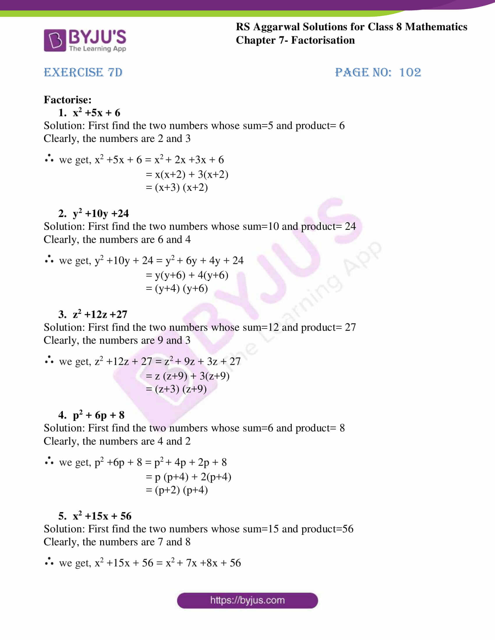 rs aggarwal solutions class 8 maths chapter 7d