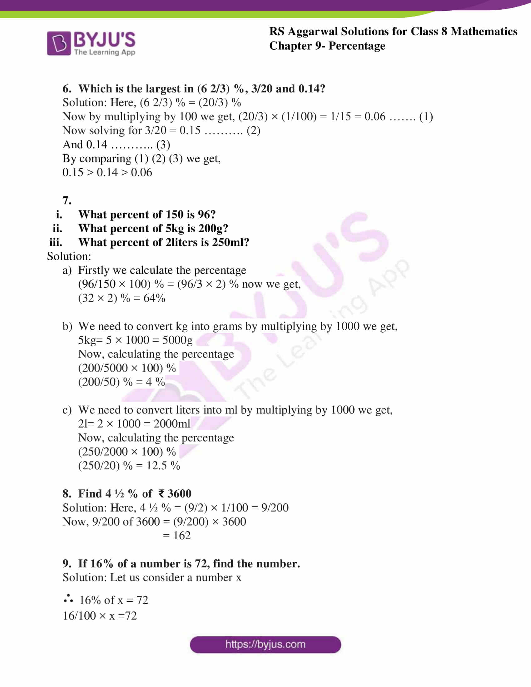 rs aggarwal solutions class 8 maths chapter 9a