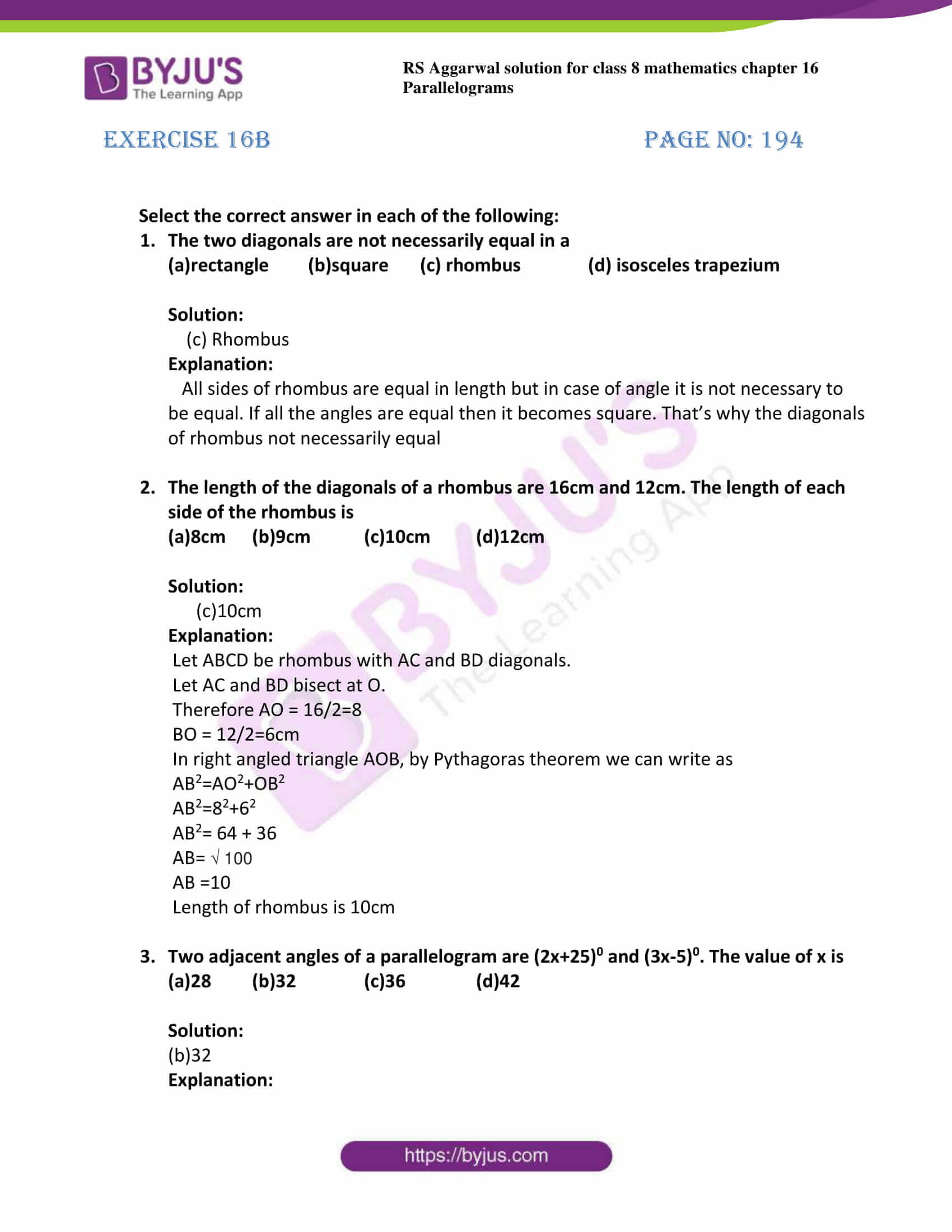 rs aggarwal solutions class 8 maths chapter 16b