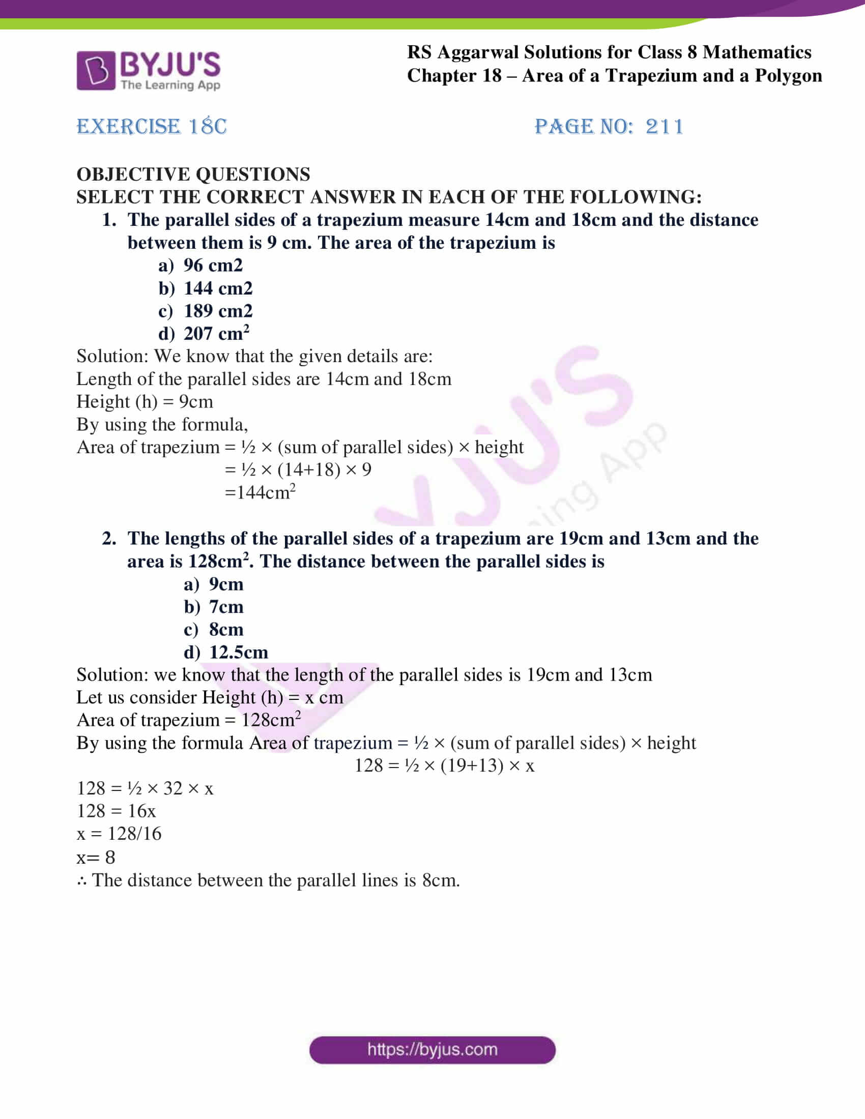 rs aggarwal solutions class 8 maths chapter 18c
