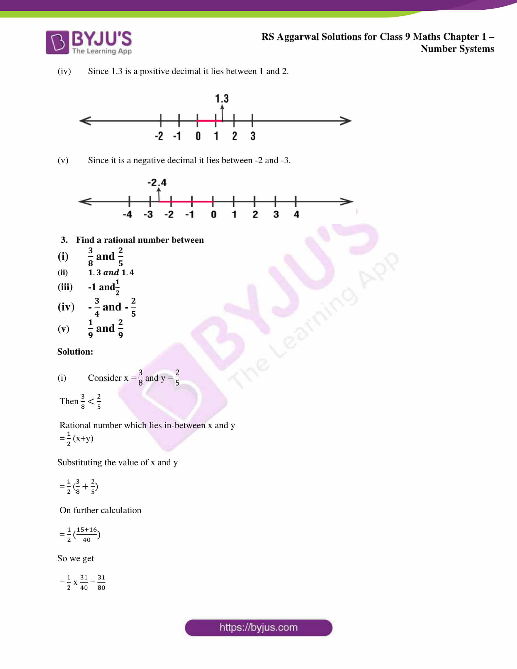 RS Aggarwal Sol class 9 Maths Chapter Ex 1A