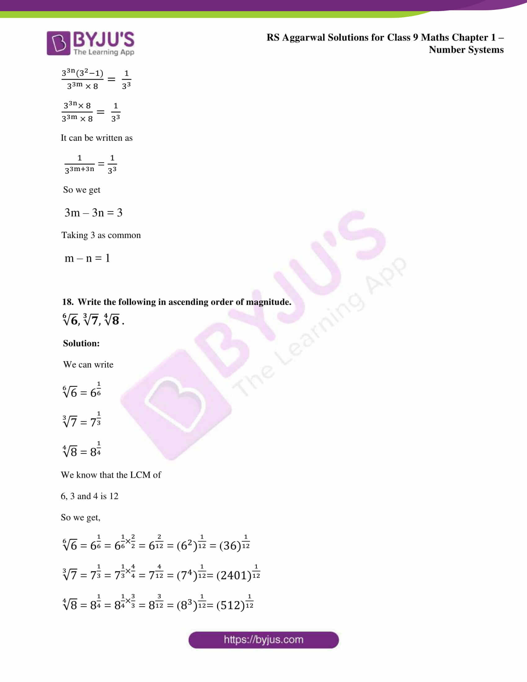 RS Aggarwal Sol class 9 Maths Chapter Ex 1G