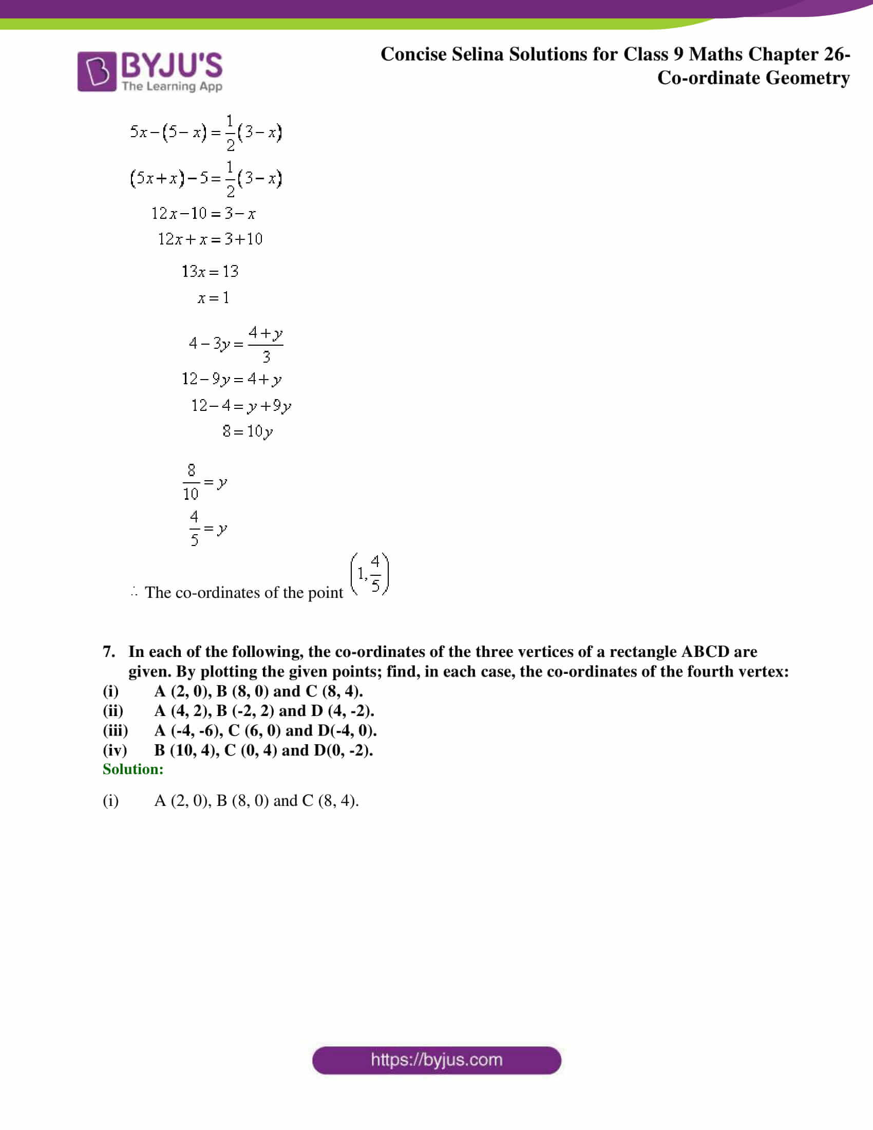 Selina Solutions for Class 9 Maths Chapter 26 part 07