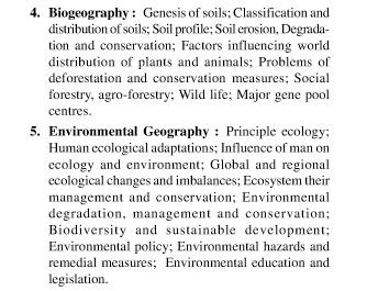 UPSC Geography Optional Syllabus Paper-I 2