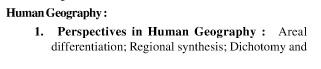 UPSC Geography Optional Syllabus Paper-I 3