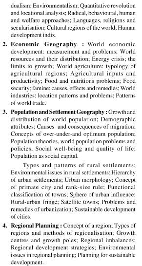 UPSC Geography Optional Syllabus Paper-I 4