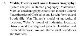 UPSC Geography Optional Syllabus Paper-I 5