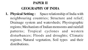 UPSC Geography Optional Syllabus Paper-II 1