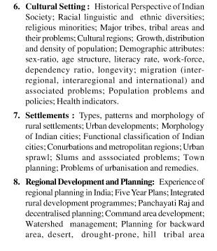 UPSC Geography Optional Paper-II 3