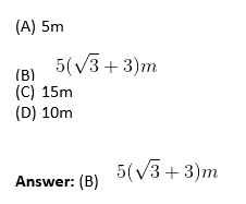 Applications of Trigonometry Objective Questions-4