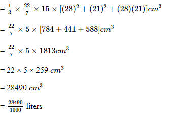 CBSE Class 10 Maths Chapter 13- Surface Areas and Volumes Question 13