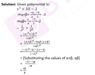 CBSE Class 10 Maths Chapter 2 Question 18 Solutions