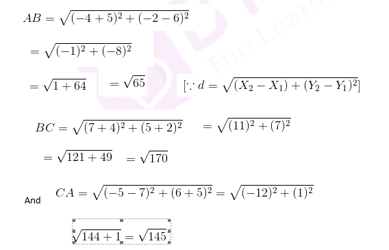 cbse class 10 maths chapter 7 question 5 solution image 1