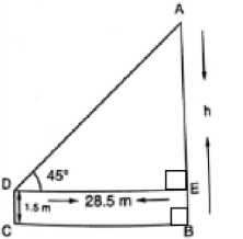 CBSE Class 10 Maths Chapter 9 Applications of Trigonometry Question 8 Solution -1