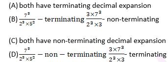 CBSE Class 1O Maths Chapter 1 Objective Question 13 Options