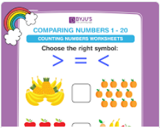 compare the muber worksheet (number upto 20)-4