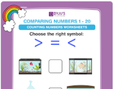 compare the muber worksheet (number upto 20)-5