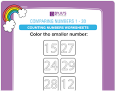 compare the numbers worksheet  (numbers upto 30)-2