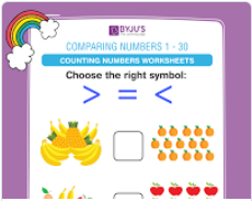 compare the numbers worksheet  (numbers upto 30)-4