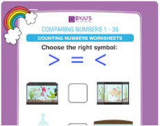 compare the numbers worksheet  (numbers upto 30)-5