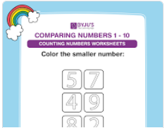 Compare the numbers worksheets (numbers upto 10)-2