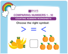 Compare the numbers worksheets (numbers upto 10)-4