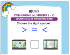 Compare the numbers worksheets (numbers upto 10)-5
