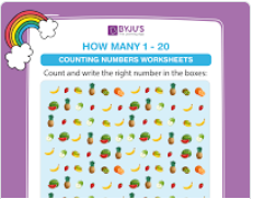 Counting worksheet (numbers upto 20)-3