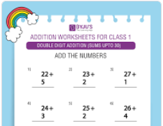 Double digit addition (Sums upto 30)-3