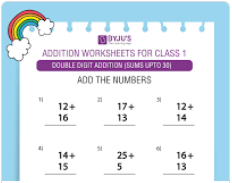 Double digit addition (Sums upto 30)-4