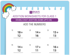 Double digit addition (Sums upto 30)-5
