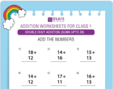 Maths Worksheets for Class 1 -6