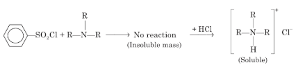 Hinsberg Test for Tertiary Amines