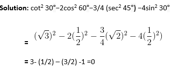 Introduction to Trigonometry Objective Questions-2