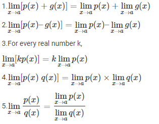 Properties of limits