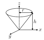 Moment of Inertia of Circular Cone 1