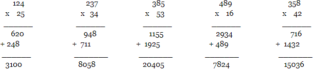 multiplication of one double-digit number and one triple-digit number
