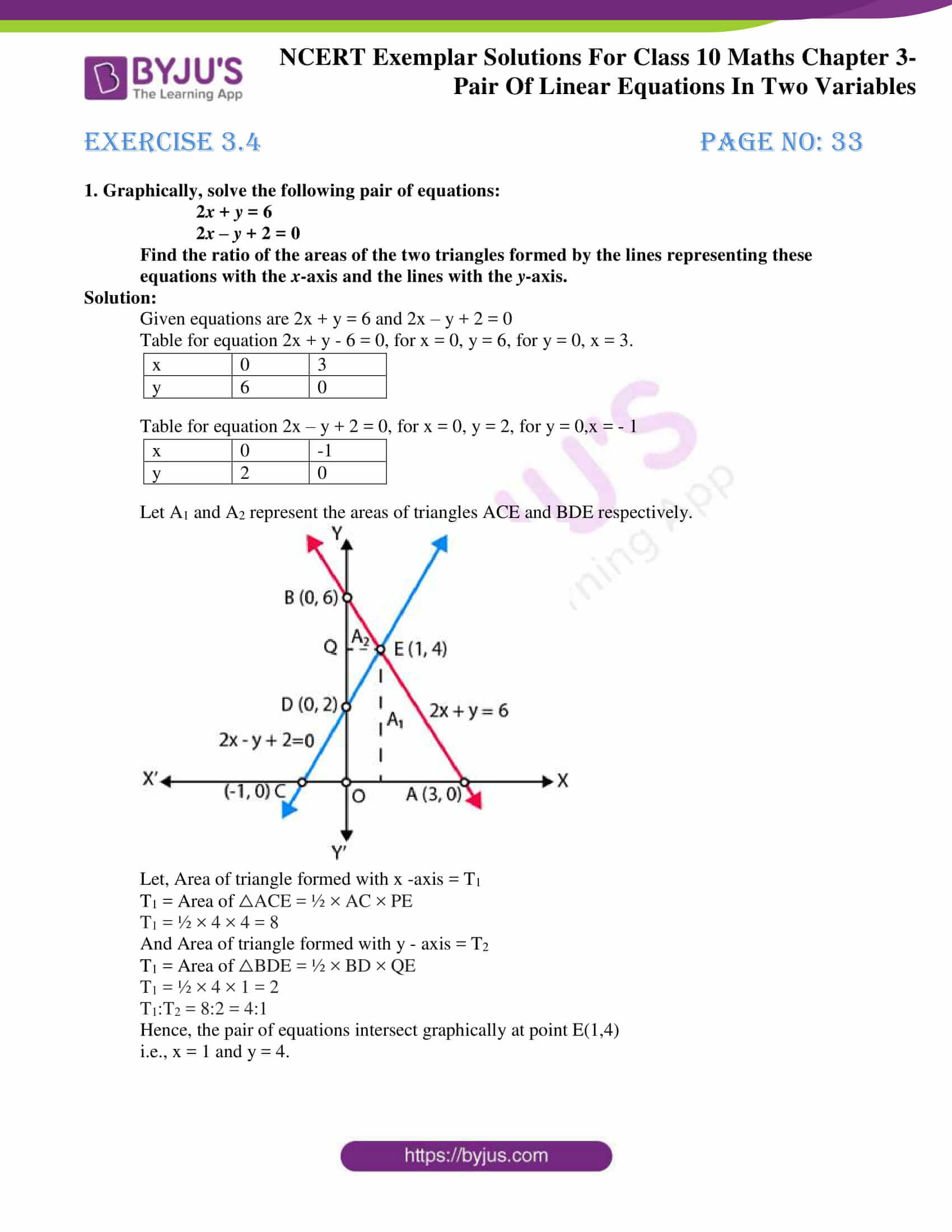 ncert exemplar for class 10 maths chapter 3
