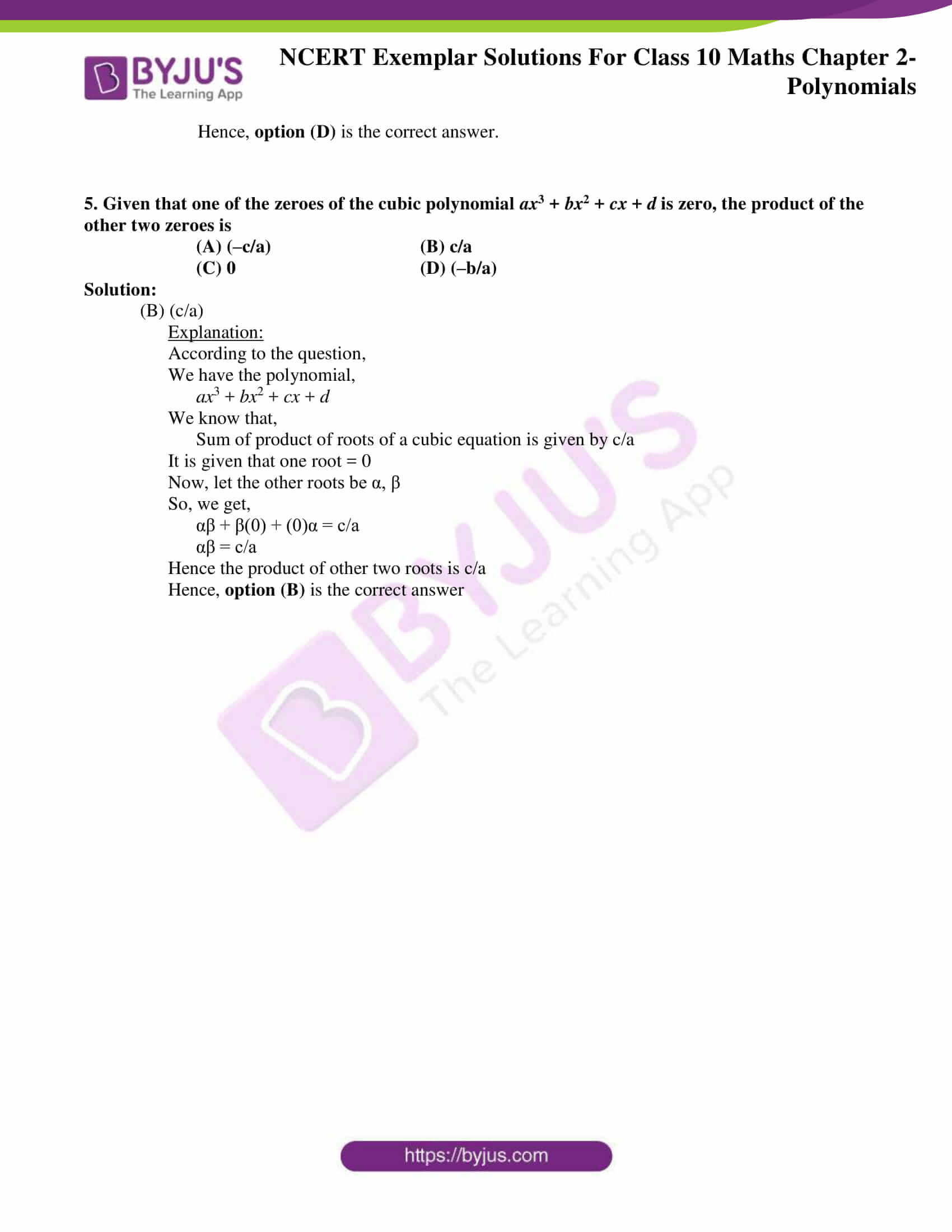 ncert exemplar for class 10 maths chapter 2