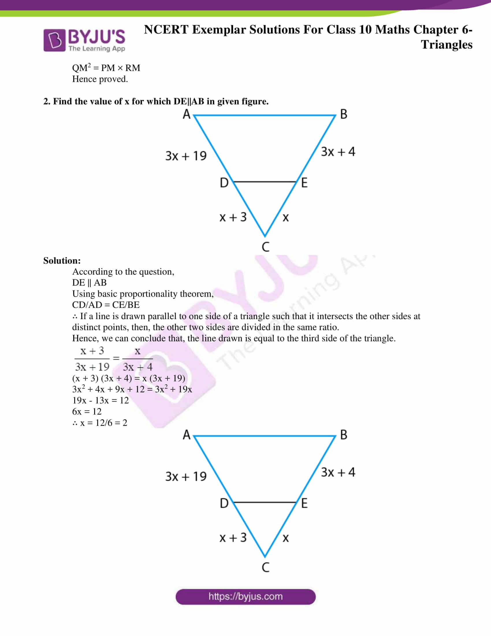 NCERT Exemplar sol Class 10 Maths chapter 6