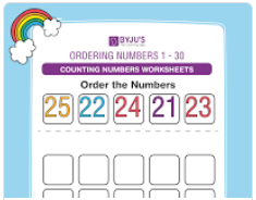 Ordering numbers worksheet (numbers upto 30)-3